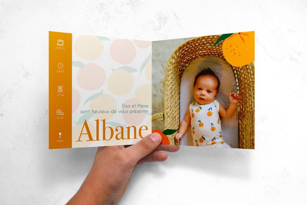 Faire part albane mockup - Illunimes