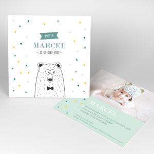Faire part naissance Marcel