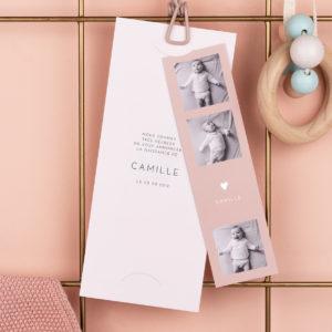 Faire part naissance Camille