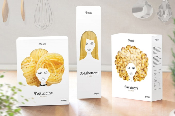 packaging good hair day pasta
