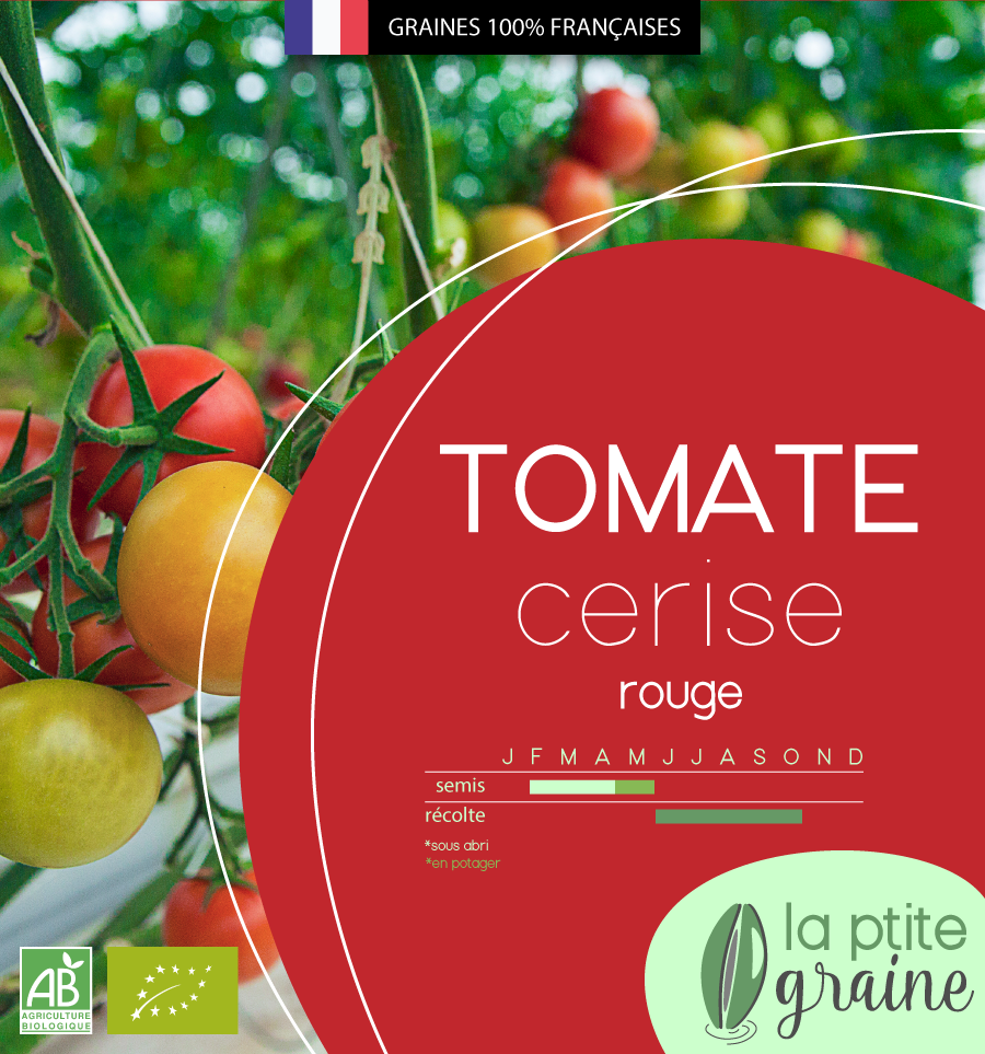 Packaging alimentaire graines tomate facing
