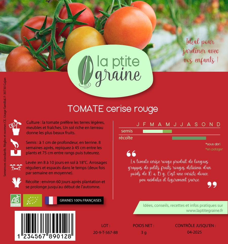 Etui carton recyclé graines tomate verso