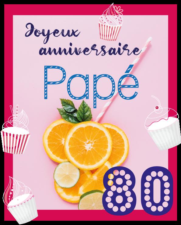 poster anniversaire papé - Illunimes