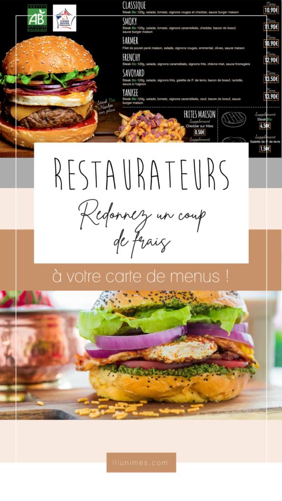 Story Instagram création de menu burger