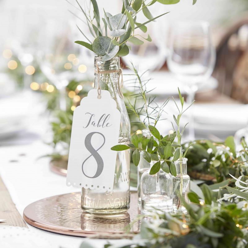 Etiquette de table mariage
