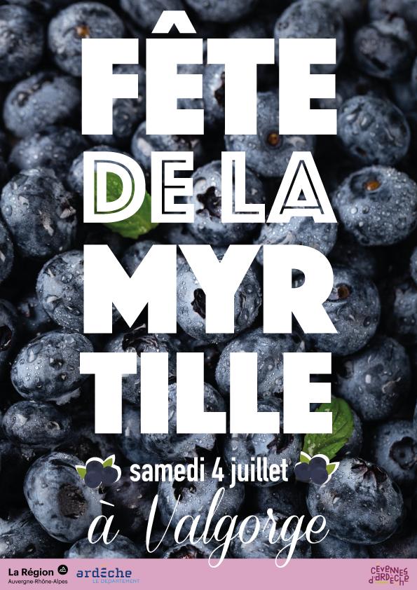 Affiche publicitaire Fête de la Myrtille