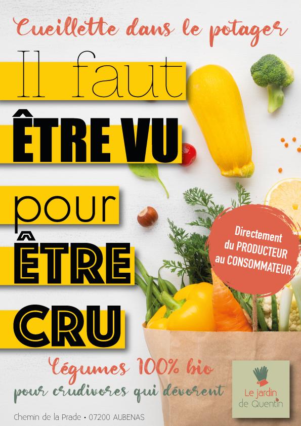Affiche publicitaire cueillette participative Le Jardin de Quentin
