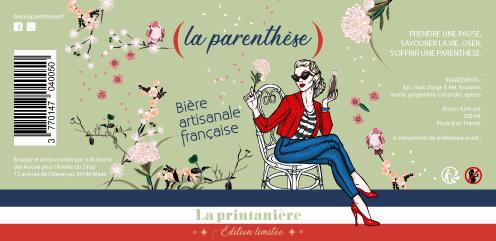 Etiquette La Parenthèse PRINTEMPS