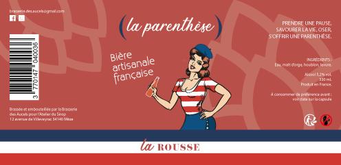 Etiquette La Parenthèse ROUSSE