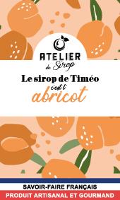 Etiquette Sirop Atelier du Sirop Abricot
