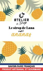 Etiquette Sirop Atelier du Sirop Ananas