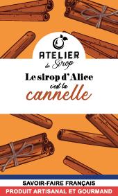 Etiquette Sirop Atelier du Sirop Cannelle