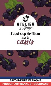 Etiquette Sirop Atelier du Sirop Cassis