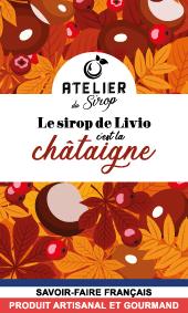 Etiquette Sirop Atelier du Sirop Châtaigne