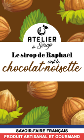 Etiquette Sirop Atelier du Sirop Choco-noisette