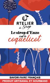 Etiquette Sirop Atelier du Sirop Coquelicot