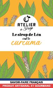 Etiquette Sirop Atelier du Sirop Curcuma