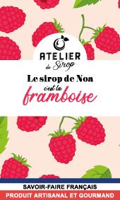 Etiquette Sirop Atelier du Sirop Framboise