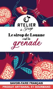 Etiquette Sirop Atelier du Sirop Grenade