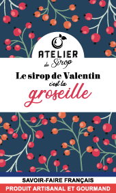 Etiquette Sirop Atelier du Sirop Groseille