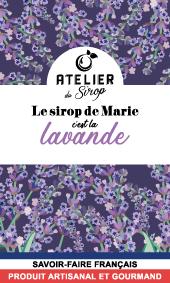 Etiquette Sirop Atelier du Sirop Lavande