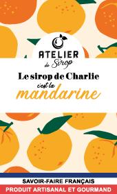 Etiquette Sirop Atelier du Sirop Mandarine