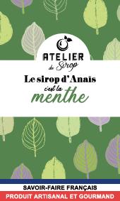 Etiquette Sirop Atelier du Sirop Menthe