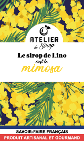 Etiquette Sirop Atelier du Sirop Mimosa