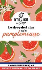 Etiquette Sirop Atelier du Sirop Pamplemousse
