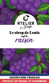 Etiquette Sirop Atelier du Sirop Raisin