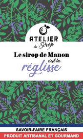 Etiquette Sirop Atelier du Sirop Réglisse
