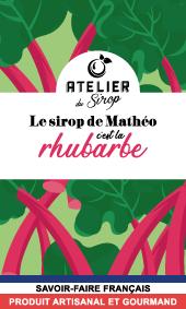 Etiquette Sirop Atelier du Sirop Rhubarbe