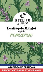 Etiquette Sirop Atelier du Sirop Romarin