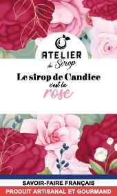 Etiquette Sirop Atelier du Sirop Rose