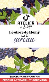 Etiquette Sirop Atelier du Sirop Sureau
