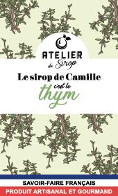 Etiquette Sirop Atelier du Sirop Thym