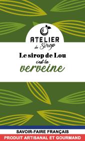 Etiquette Sirop Atelier du Sirop Verveine