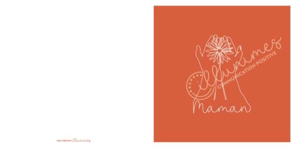Carte Maman 13x13cm filigrane - Illunimes