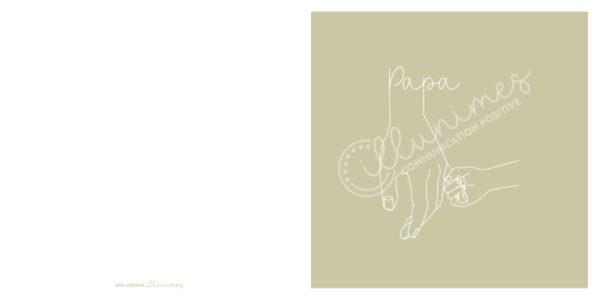 Carte Papa 13x13cm filigrane - Illunimes