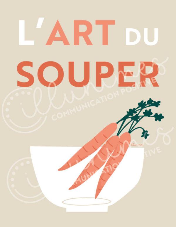 Affiche l'art du souper