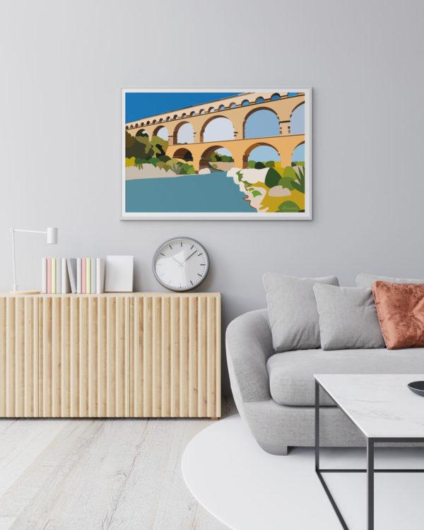 Pont du Gard mockup - Illunimes