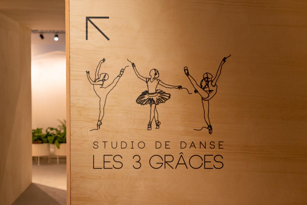 signalétique studio de danse les 3 graces - Illunimes